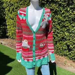 BLIZZARD BAY Ugly Christmas Sloth Cardigan Sweater